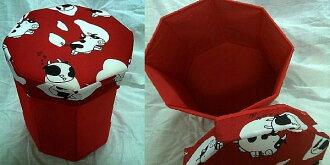 淇淇婦幼館【QQ234】日式簡約 八角形收納椅 收納箱,玩具、雜誌居家多用途分類