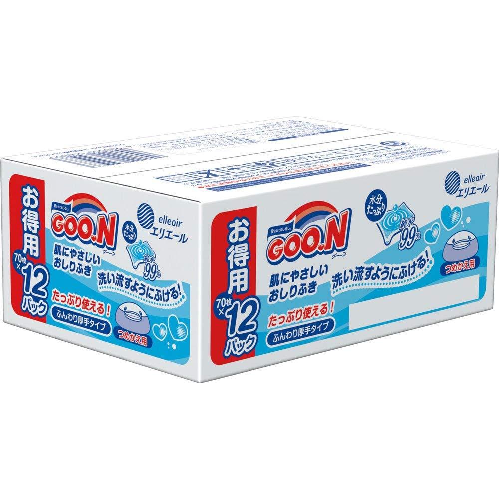 日本大王境內版嬰兒護膚濕紙巾99%純水溼紙巾 (12包  /  840枚) 4