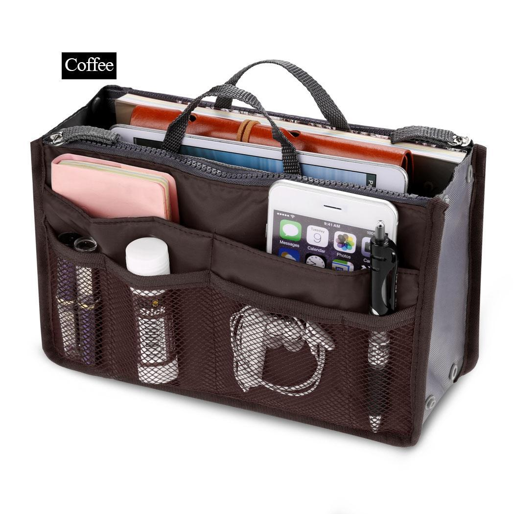 Travel Cosmetic Makeup Insert Pouch Toiletry Handbag Storage Purse 4