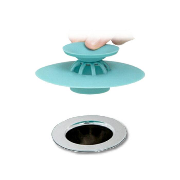 阿宏拍賣 二合一按壓式彈跳集髮防臭排水孔蓋 防蟑防蟲 排水孔蓋 排水蓋 排水口蓋 地漏蓋 水槽塞