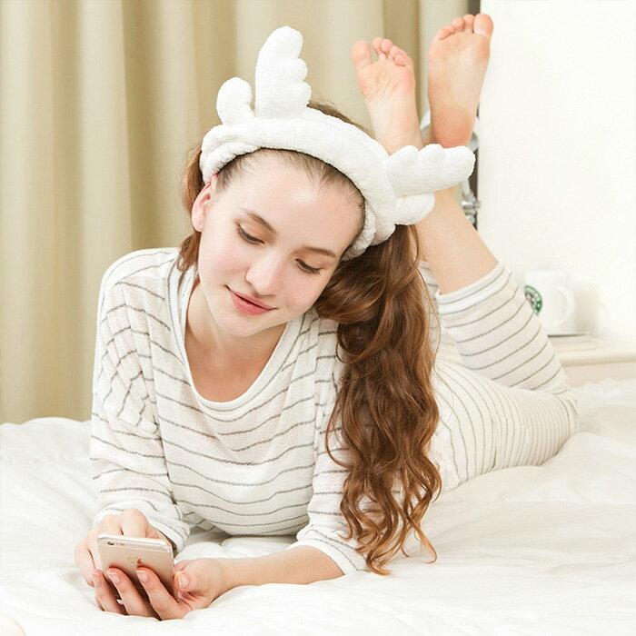 超柔軟麋鹿 束髮帶 髮帶 洗臉 化妝 沐浴 卸妝美妝小物 【SV6869】 快樂 網