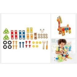 【淘氣寶寶】 德國 Hape 愛傑卡 組裝建構系列 工匠組(42PCs)