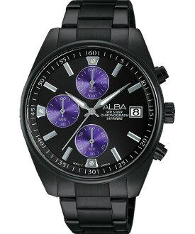 ALBA VD57-X060SD(AM3249X1)東京紫三環時尚腕錶/黑面37mm