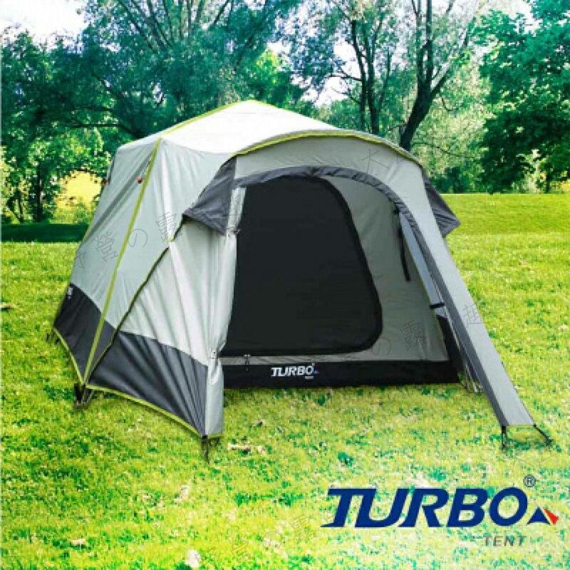 【露營趣】中和安坑 TURBO TT-TL210 TENT Lancer  210 3人帳 三人帳 30秒快速帳 速搭帳篷 快速帳篷  鋁柱 露營 野營
