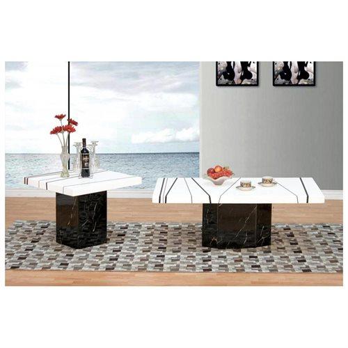 2919 - 3 Pcs Modern White/ Black Coffee Set