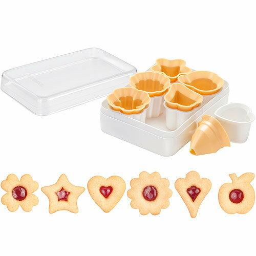 《TESCOMA》盒裝林茲眼睛餅乾模6件(經典)