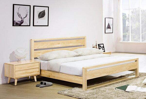 【尚品家具】HY-A165-01丹麥原木全實木5尺床台