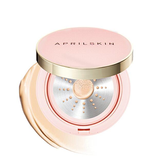 APRILSKIN/至美遮瑕氣墊粉底霜 21亮膚色 (粉紅版) 13g