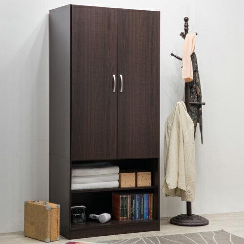 衣櫃 / 衣櫥 / 臥室 TZUMii雅緻二門二格衣櫥-沉穩棕 0