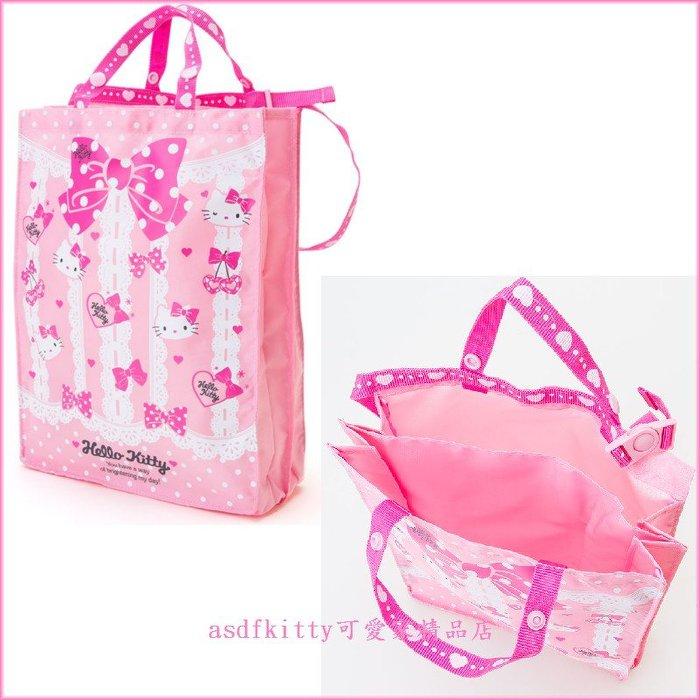 asdfkitty可愛家☆KITTY兒童後背書包用內袋/包中包/手提包-整齊乾淨-輕量無負擔-日本正版