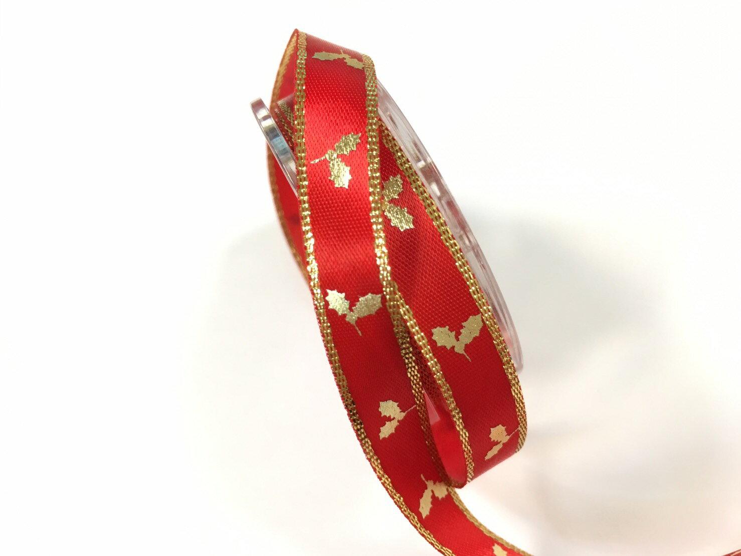雙緞面聖誕金葉 10mm 3碼裝 (10色) 1