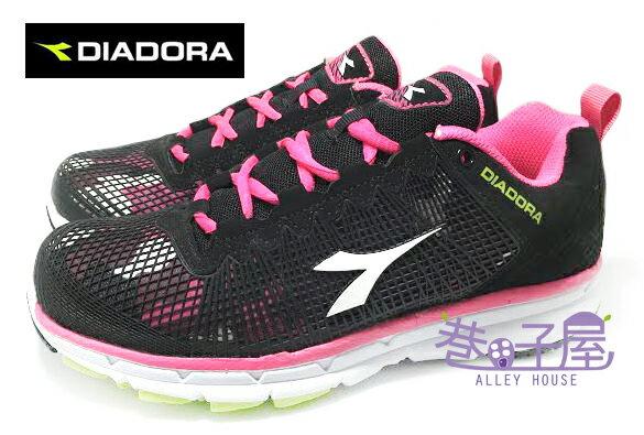 【巷子屋】義大利國寶鞋-DIADORA迪亞多納 女款悍將迷彩運動輕跑鞋 [9760] 黑桃 台灣製造 超值價$690
