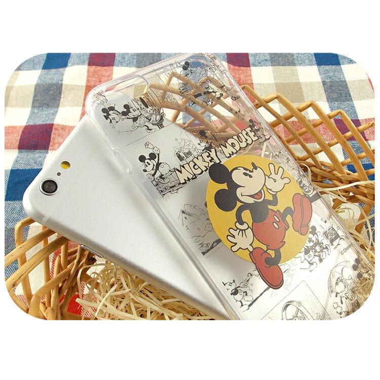 【Disney】iPhone6plus彩繪90週年透明保護軟套-90週年米奇 5