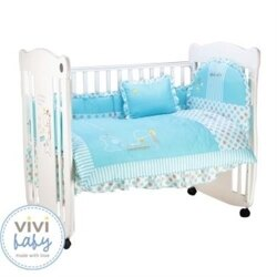 ViVibaby 長頸鹿七件組嬰兒寢具(防蹣抗菌)