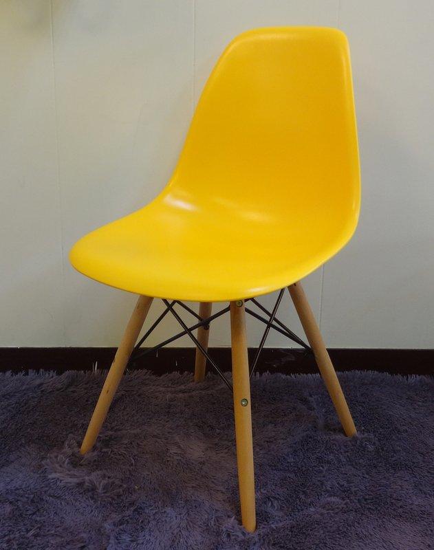 【新生活家具】 黃色 北歐風 伊姆斯 餐椅 電腦椅 書桌椅 DSW Eames 歐瑞 非 H&D ikea 宜家