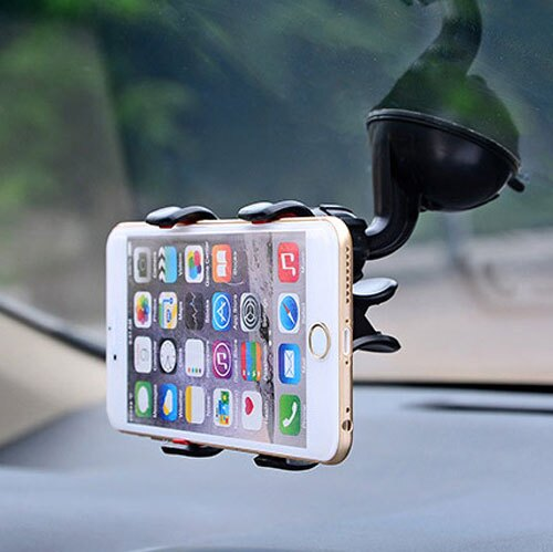 新款雙夾-車用360度旋轉導航架 智慧型手機 iphone / 三星 / htc 汽車用支架