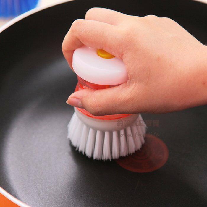 約翰家庭百貨》【AG820】自動加清潔劑刷鍋器 多用壓液洗鍋刷 洗碗刷 刷衣服鞋子 隨機出貨