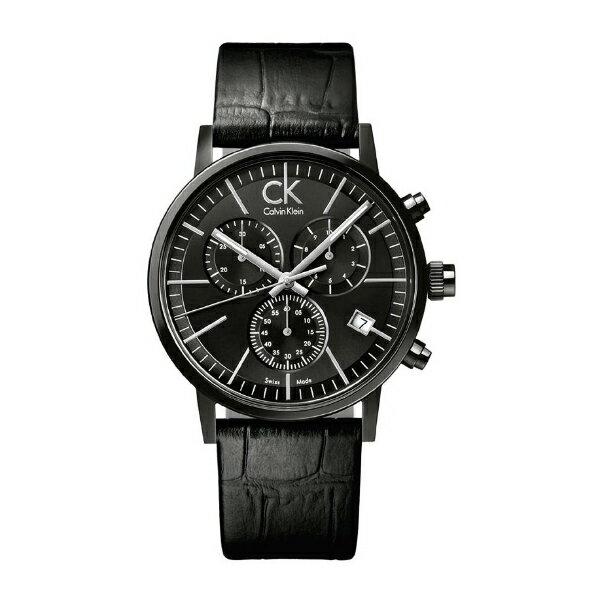 CK  卡文克萊(K7627401)雙層鏤空玻璃時尚流行腕錶/黑面41mm