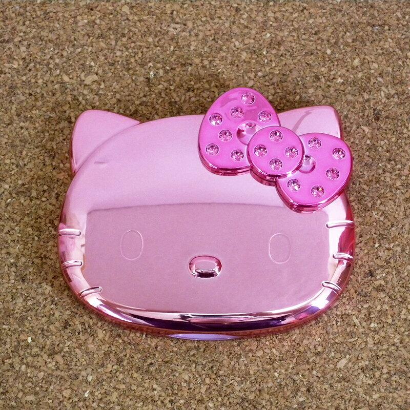 【真愛日本】15062400030 鏡梳組-大臉電鍍粉 三麗鷗 Hello Kitty 凱蒂貓 鏡子 隨身鏡 化妝鏡 正品 限量 預購