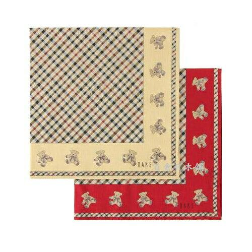 ~百倉 舖~英國品牌DAKS小熊格紋大帕巾  製  圍巾  領巾