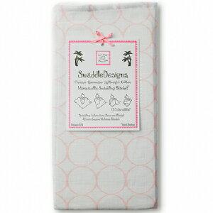 美國【Swaddle Designs】薄棉羅紗多用途嬰兒包巾 (粉圈) - 限時優惠好康折扣