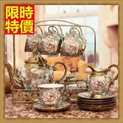 下午茶茶具 含茶壺+咖啡杯組合-6人奢華歐式創意陶瓷茶具69g16【獨家進口】【米蘭精品】