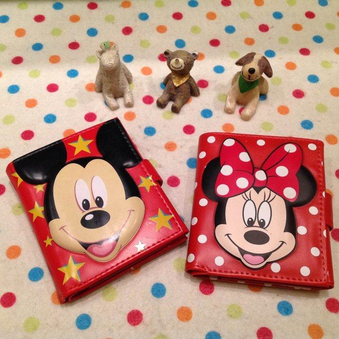 =優生活=日本迪士尼米奇 米妮立體造型短夾 卡通米奇米妮皮夾造錢包 零錢包 證件包