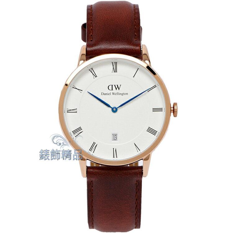【錶飾精品】現貨Daniel Wellington瑞典DW手錶 DW00100083/1100DW Dapper ST MAWES 38mm 玫瑰金 全新原廠正品