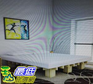 [COSCO代購如果售完謹致歉意]W118290QuaggaDesigns雙人加大床架