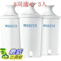[107新款圓型8周用濾心] BRITA 新款 濾水壺濾心/濾芯3入 圓形濾心(和舊款相容) 0