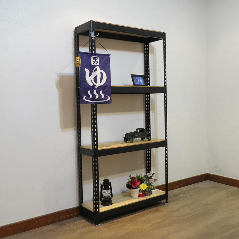 收納架 置物架 書架 層架  黑色免螺絲角鋼架 (3.5x1.5x6尺 5層) 空間特工【B3515650】