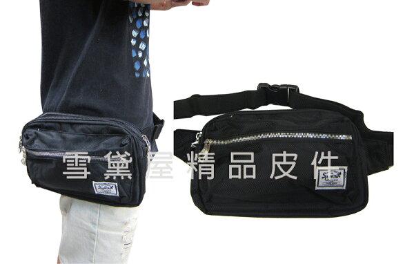 ~雪黛屋~SPYWALK臀包中容量二層主袋內手6吋機護套工作胸前包防水尼龍布貼身防盜隨身品青少全齡適用014S6017