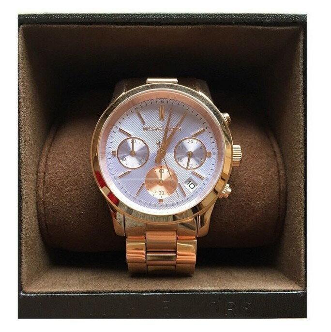 美國Outlet 正品代購 Michael Kors MK 三環 螢光紫精鋼 滿鑽 手錶 腕錶 MK6163 6