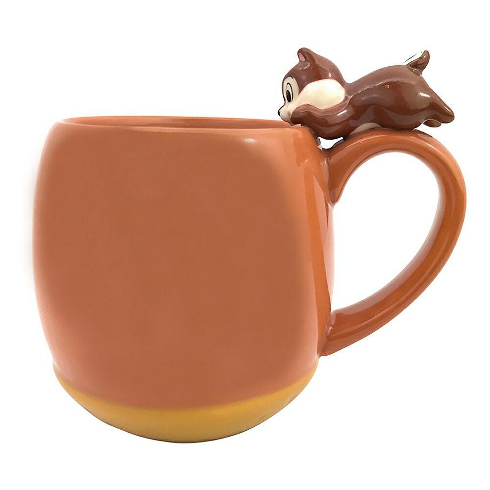 奇奇 松鼠 趴姿 栗子 杯緣子 陶瓷 馬克杯 水杯 茶杯 HT8 杯子 陶瓷製 食器 真愛日本