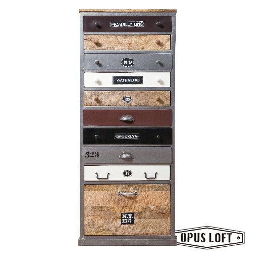 純真年代Opus Loft:復古LOFT工業風直立鐵件原木混搭櫃