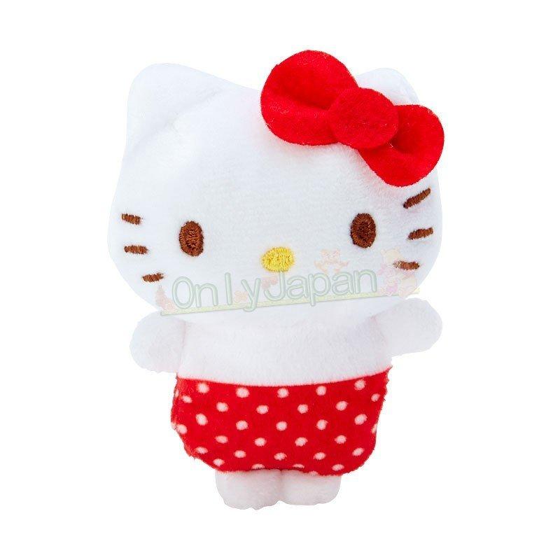 【真愛日本】4901610302804 絨毛手玉娃-KT紅ED91 凱蒂貓kitty 絨毛娃 手玉娃 娃娃 布偶 擺飾 收藏 禮物 0
