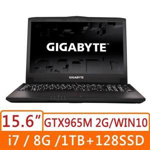 技嘉GIGABYTE  P55KV5-2K7670H8GS1H1DDW10  黑15吋雙碟 筆記型電腦7-6700HQ/ FHD 廣視角防反光 /GTX 965M D5 2G/背光鍵盤/DDR4 8GB/128G m.2 SSD + 1TB 7200rpm/DVD/ WIN 10 **雙碟**