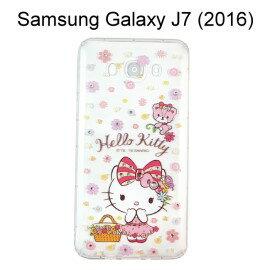 Hello Kitty空壓氣墊鑽殼 ^~野餐^~ Samsung J710 Galaxy