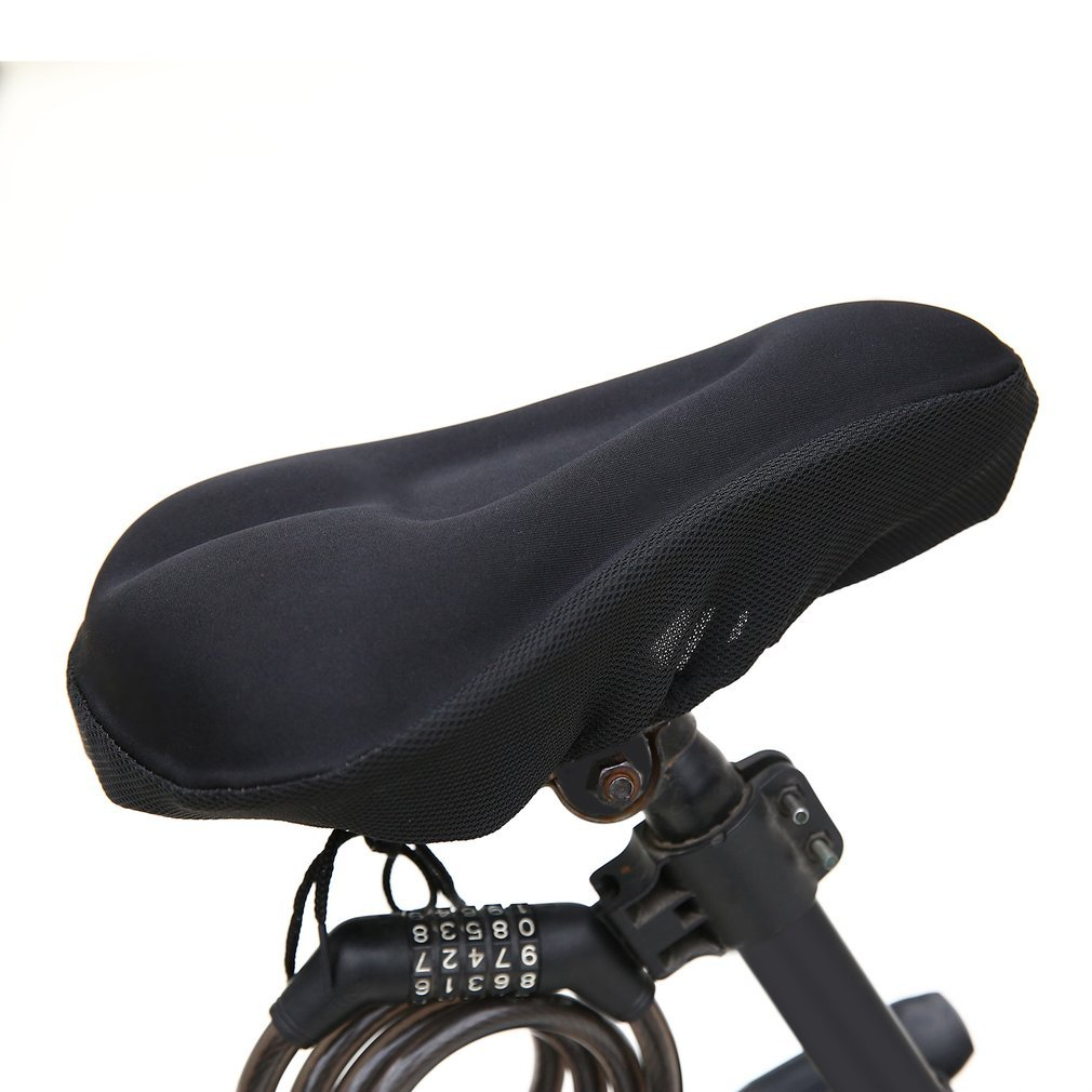 Bike Cycle Bicycle Extra Comfort Gel Cushion Saddle Seat Cover Bicycle Cycle Pad