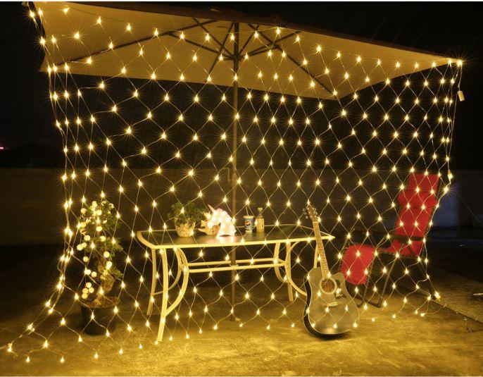《沛大建材》$389 LED裝飾網燈 LED網燈 漁網燈 漁網格子燈 彩燈 滿天星 戶外 佈置 漁網格 防水 【S61】 1