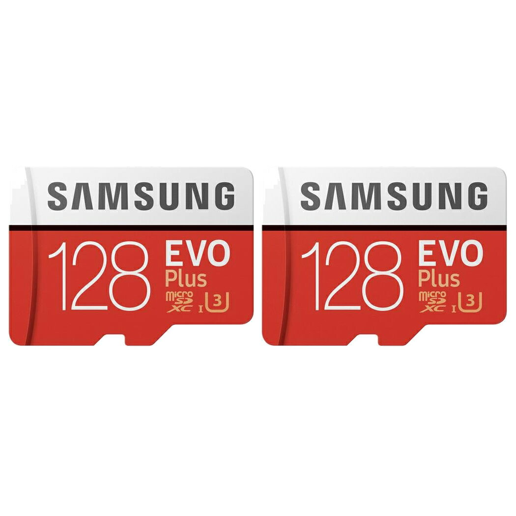 2 Pack Samsung 128gb Evo Plus Class 10 Micro Sdxc With Adapter Mb Mc128ga