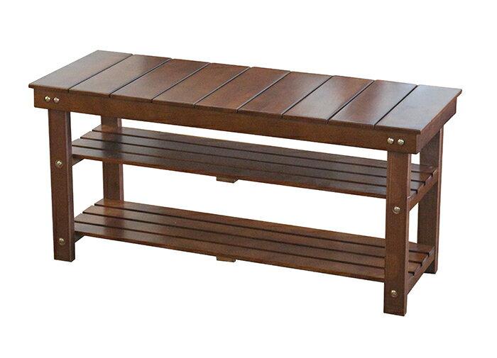 【尚品傢俱】Q-659-22  3尺赤楊木實木穿鞋椅~需自己DIY組裝