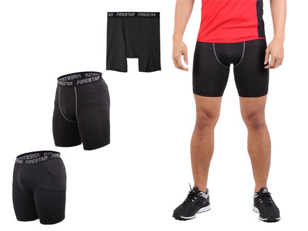 ≡排汗專家≡【N3802】FIRESTAR 男機能緊身短褲(慢跑 路跑 運動短褲 免運