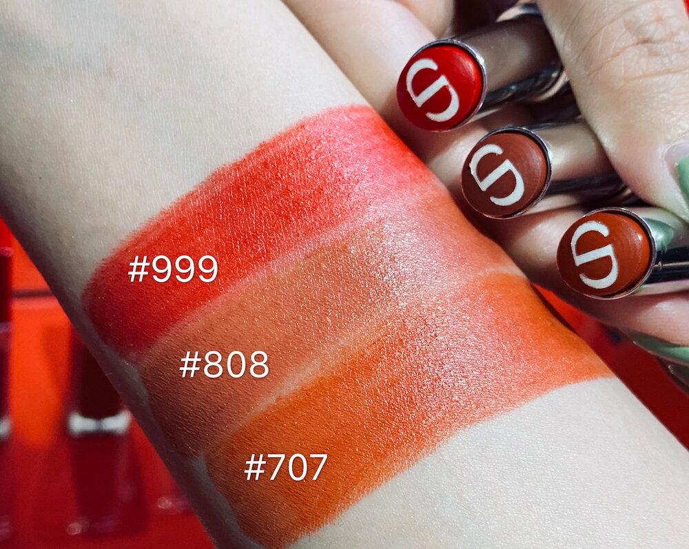 現貨快速出貨Dior迪奧 超惹火精萃唇膏 色號#999、#808、#707 4