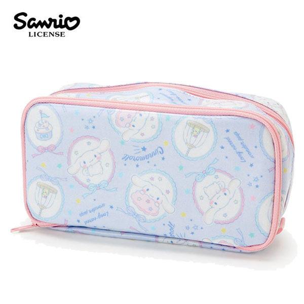 【日本正版】大耳狗防潑水雙層筆袋鉛筆盒收納包化妝包喜拿Cinnamoroll三麗鷗-924433