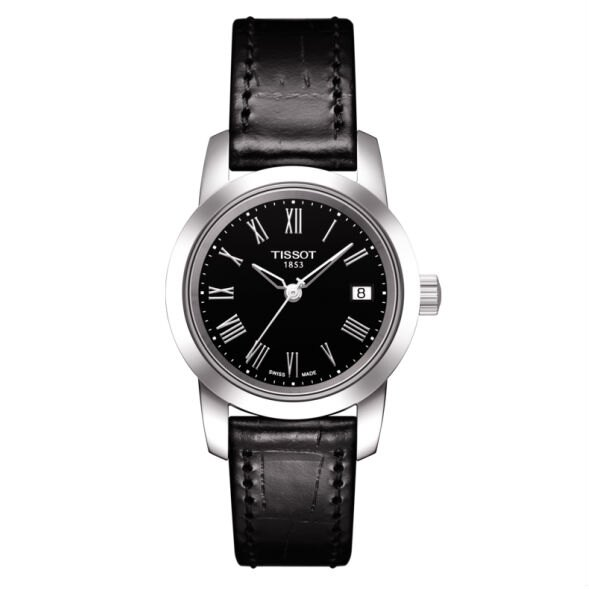 TISSOT 天梭 T0332101605300 CLASSIC 羅馬簡約機械石英腕錶 黑 28mm