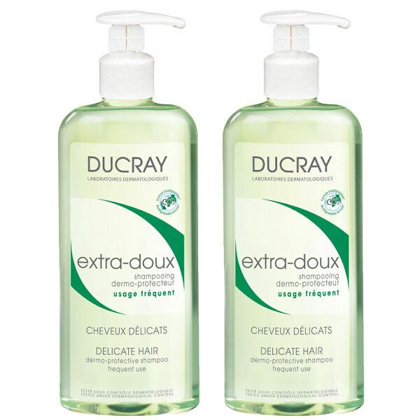 德芳保健藥妝:【滿499折50】Ducray護蕾溫和保濕洗髮精-基礎型400ml二入組【德芳保健藥妝】