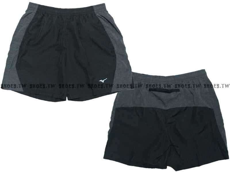 Shoestw【J2TB605409】MIZUNO 美津濃 路跑短褲 五分 慢跑褲 黑水洗 路跑 0