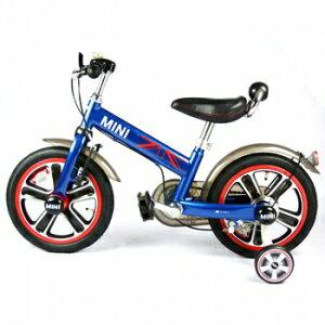 ★衛立兒生活館★英國Mini Cooper 兒童腳踏車14吋-閃電藍