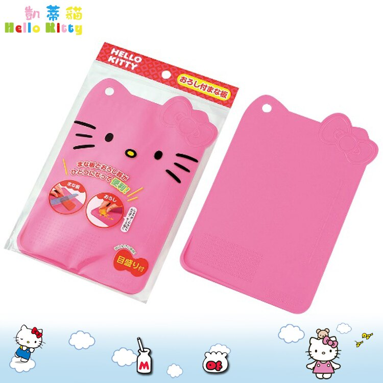 凱蒂貓 Hello Kitty 砧板 粉 切水果 砧板 切菜板 塑膠砧板 磨泥 可掛 日本進口正版 167583